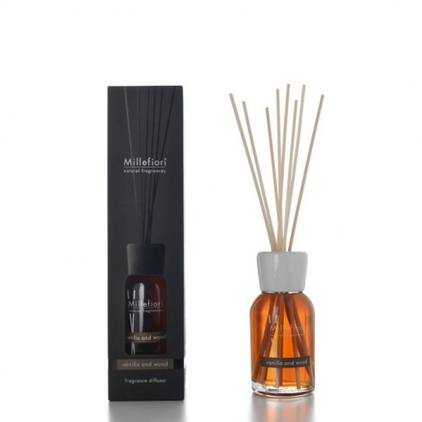 MILLEFIORI NATURAL DIFF. STICK 100ML VANILLA/WOOD